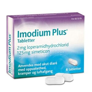 Imodium Plus Tabletter 2+125mg 6 stk
