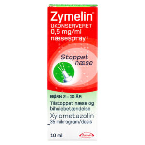 Zymelin ukonserveret næsespray 0,5 mg/ml - 10 ml.