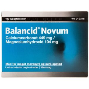 Balancid Novum - 449 + 104 mg - 100 Tabletter