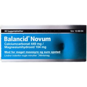 Balancid Novum - 449 + 104 mg - 30 Tabletter