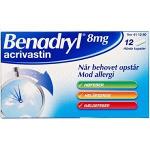 Benadryl 12 stk Kapsler, hårde