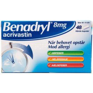 Benadryl - 8 mg - 48 Kapsler