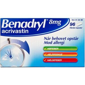 Benadryl 96 stk Kapsler, hårde