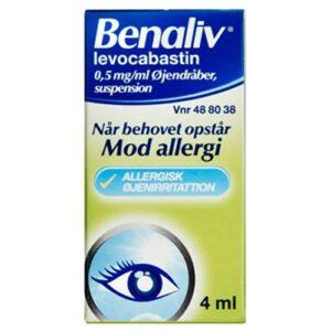øjendråber mod røde øjne apotek