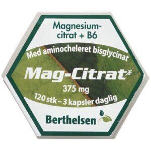 Berthelsen Mag-Citrat Kosttilskud 1 stk