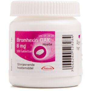 Bromhexin - 8 mg - 100 Tabletter