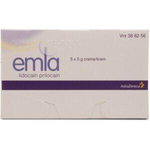 Emla Creme og Plaster Sampak - 5 % - 5x5 Gram