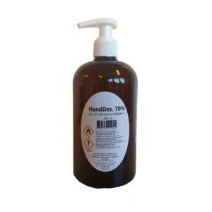 HandDes. 70%, håndsprit 500 ml i pumpeflaske