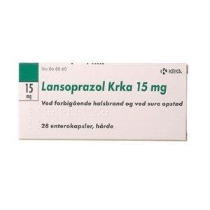 """Lansoprazol """"KRKA"""" 28 stk Enterokapsler, hårde"""