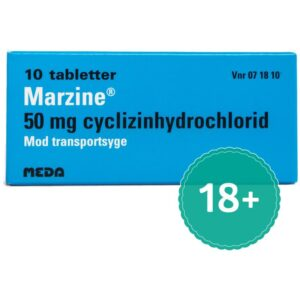 Marzine - 50 mg - 10 Tabletter