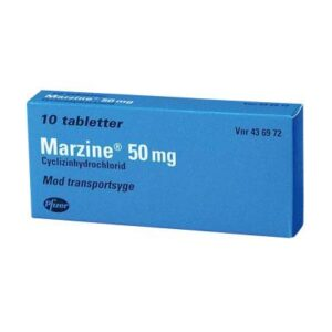 Marzine, 50mg - 10 tabletter