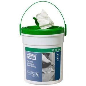 Overfladedesinfektion, Tork Wet Wipe, uden parfume, hvid, 58 ark, 13,50x1.570 cm *Denne vare tages ikke retur*