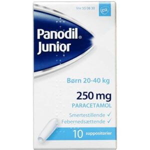 Panodil Junior 10 stk Suppositorier