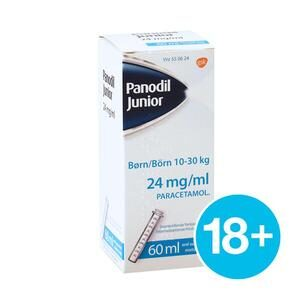 Panodil Junior oral opl. 24 mg/ml - 60 ml.
