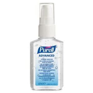 Purell Advanced håndsprit, ethanol, med pumpe, 60 ml