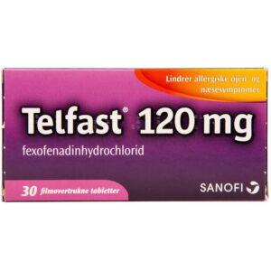 Telfast - 120 mg - 30 Tabletter