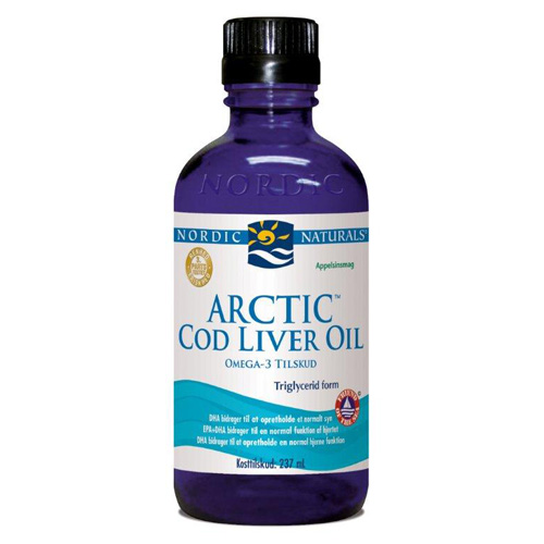 Torskelevertran m.appelsin Cod liver oil 237 ml.