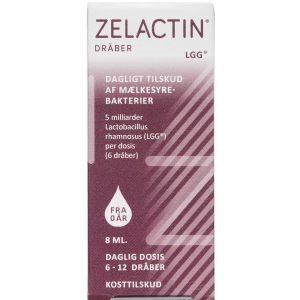 Zelactin Dråber Uden Sødestof Kosttilskud 8 ml