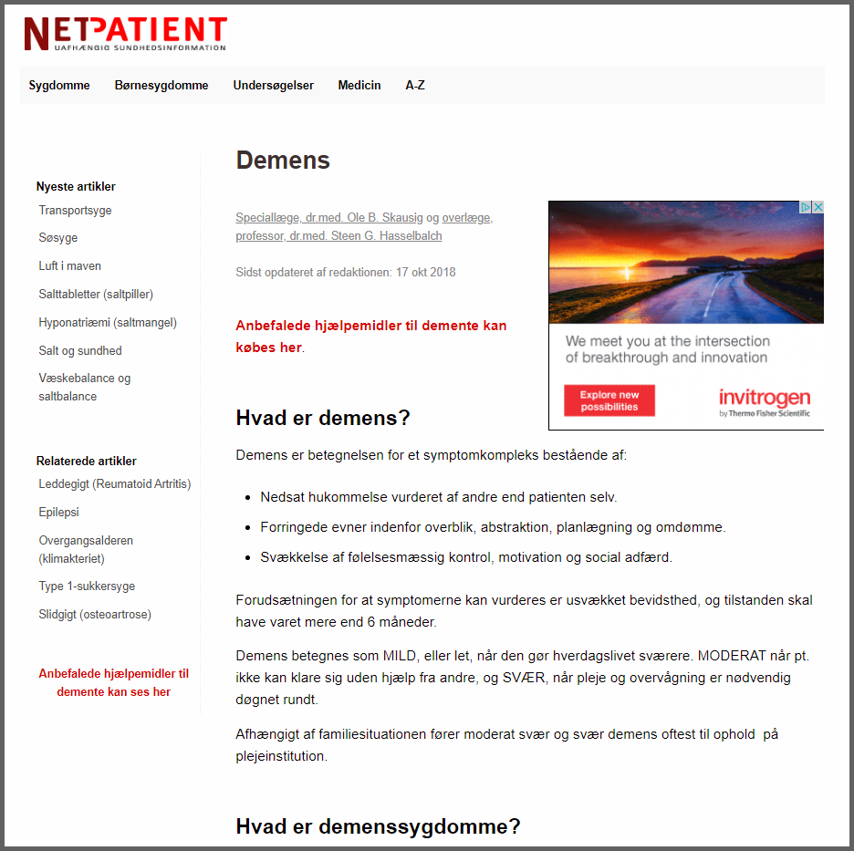 Affiliate links på NetPatient.dk