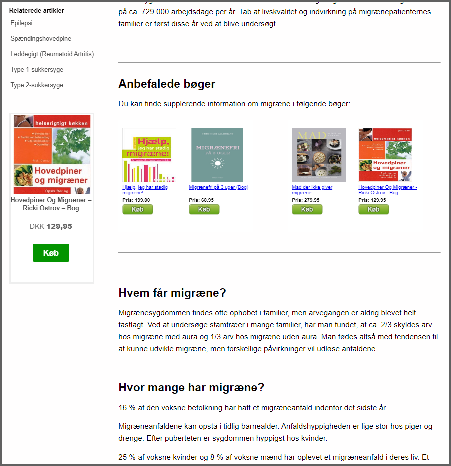 Affiliate produkt reklamer (produktfeeds) på NetPatient.dk