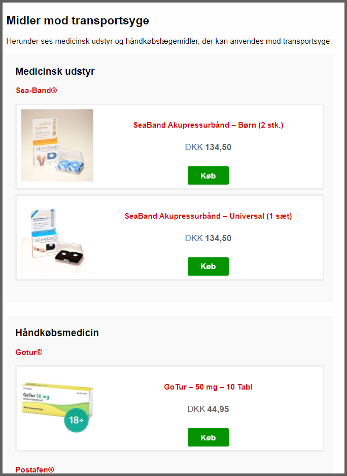 Affiliate produkt-reklamer på NetPatient.dk
