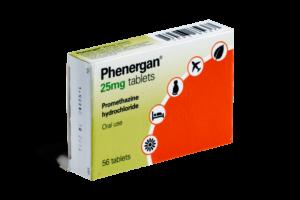 Phenergan er et middel mod transportsyge og søvnløshed
